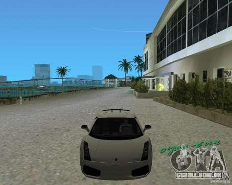 Lamborghini Gallardo Superleggera para GTA Vice City vista direita