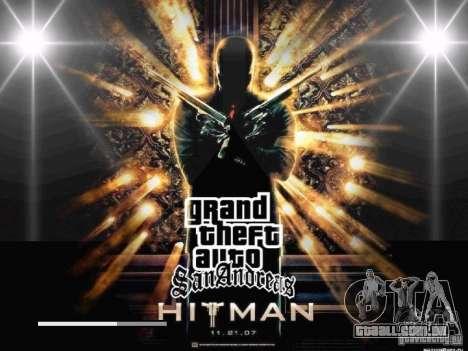 Tela de inicialização de HITMAN-estilo para GTA San Andreas oitavo tela
