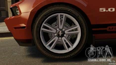 Ford Mustang GT 2011 para GTA 4 vista lateral