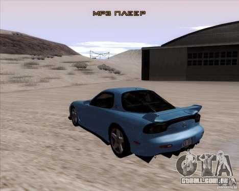 Mazda RX7 2002 FD3S SPIRIT-R (Type RS) para GTA San Andreas traseira esquerda vista
