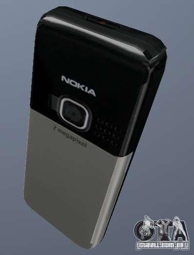 Nokia 6300 Mobile para GTA San Andreas segunda tela