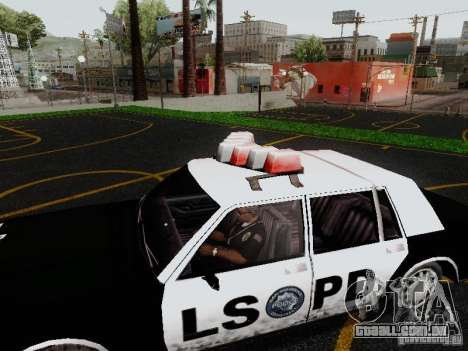 Greenwood Police LS para GTA San Andreas vista direita