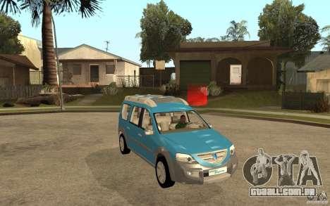 Dacia Logan Steppe Concept para GTA San Andreas vista traseira