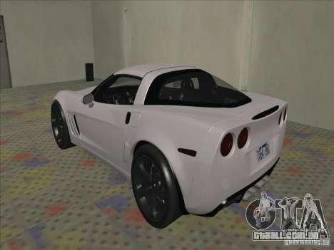 Chevrolet Corvette Grand Sport 2010 para GTA San Andreas vista direita