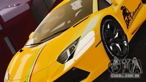 Lamborghini Aventador LP700-4 2012 para GTA 4 traseira esquerda vista