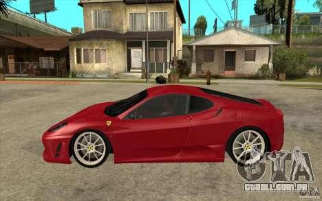 Ferrari F430 Scuderia para GTA San Andreas esquerda vista