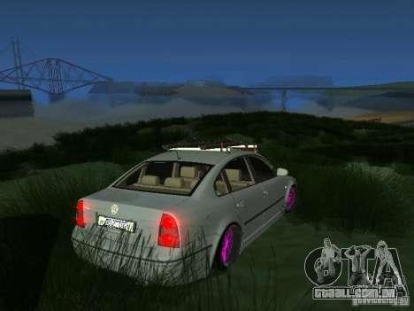 VW Passat B5 Dope para GTA San Andreas traseira esquerda vista
