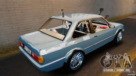 BMW E30 V8 Drift para GTA 4 traseira esquerda vista