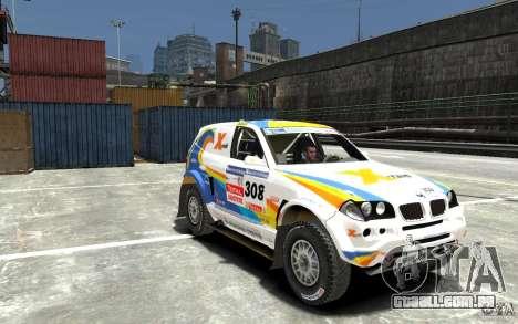 BMW X3 CC DAKAR para GTA 4 vista de volta