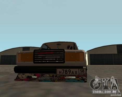 JDM VAZ 2107 para GTA San Andreas vista direita