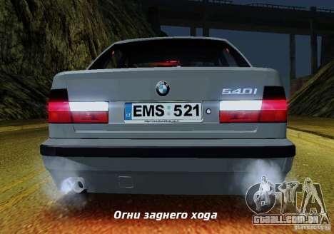 BMW E34 540i Tunable para as rodas de GTA San Andreas