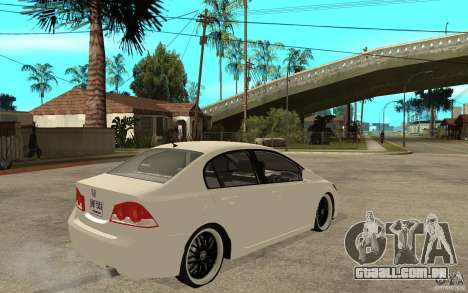 Honda Civic FD para GTA San Andreas vista direita