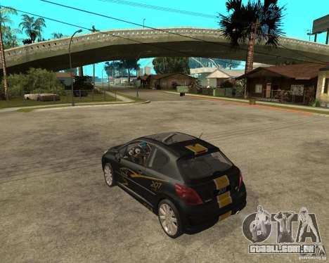PEUGEOT 207 Griffe LANCARSPORT para GTA San Andreas esquerda vista