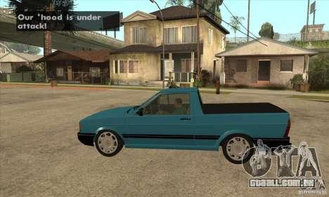 VW Saveiro GL 1989 para GTA San Andreas esquerda vista