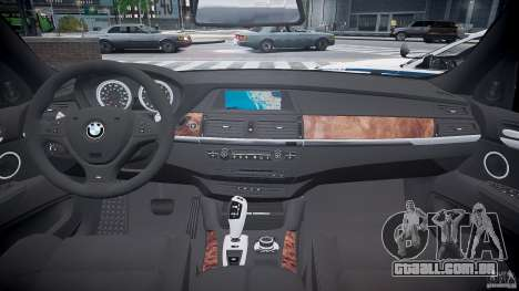BMW X6M Police para GTA 4 vista de volta