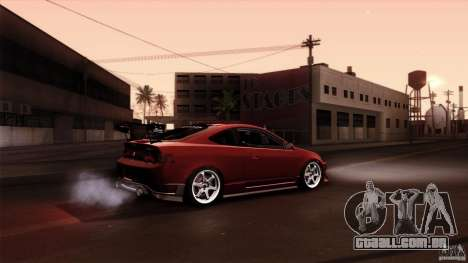 Acura RSX Spoon Sports para GTA San Andreas interior