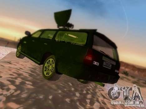 Suv Call Of Duty Modern Warfare 3 para GTA San Andreas vista direita
