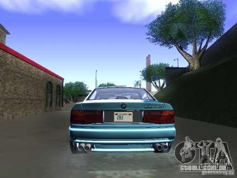 BMW 850CSi 1995 para GTA San Andreas vista traseira