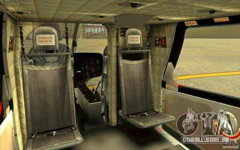 MD 902 Explorer para GTA San Andreas vista interior