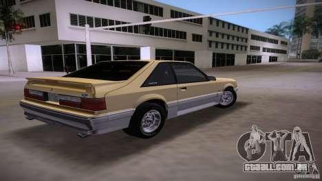 Ford Mustang GT 1993 para GTA Vice City deixou vista