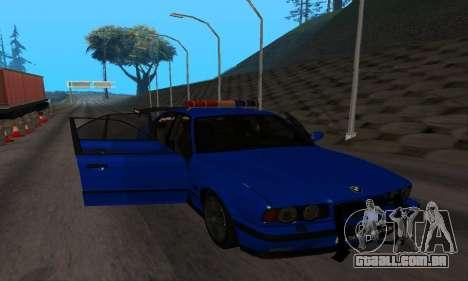 BMW M5 POLICE para GTA San Andreas vista interior