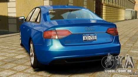 Audi A4 2010 para GTA 4 traseira esquerda vista