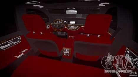 Mercedes Benz w221 s500 v1.0 cls amg wheels para GTA 4 vista de volta
