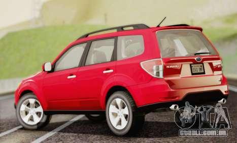 Subaru Forester XT 2008 para GTA San Andreas esquerda vista