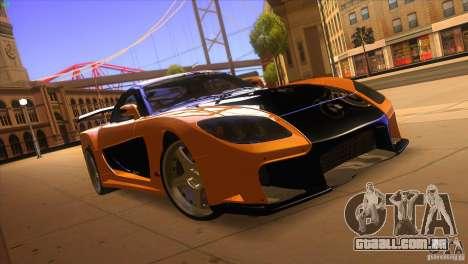 Mazda RX7 Veilside para GTA San Andreas vista traseira