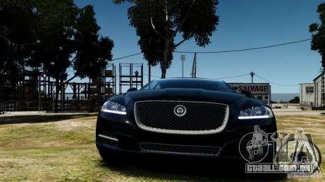 Jaguar XJ 2012 para GTA 4 vista de volta