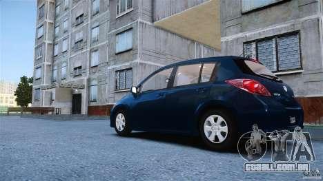 Nissan Versa para GTA 4 esquerda vista
