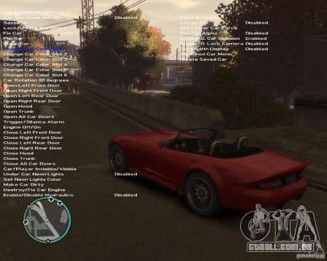 Simple Native Trainer v6.4 para GTA 4 quinto tela