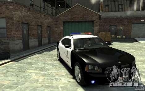 Dodge Charger LAPD V1.6 para GTA 4 vista de volta
