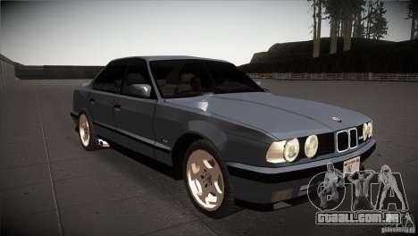 BMW M5 E34 1990 para GTA San Andreas vista traseira