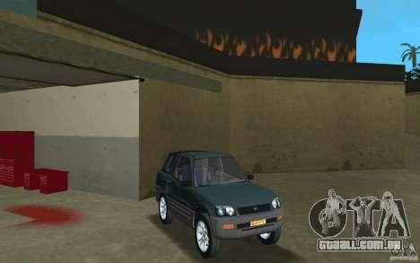 Toyota RAV4 para GTA Vice City vista traseira