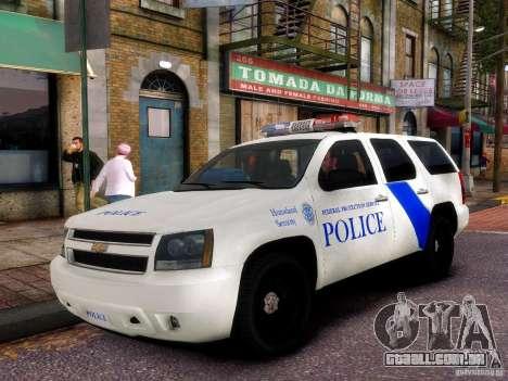 Chevrolet Tahoe New York Police para GTA 4 vista interior