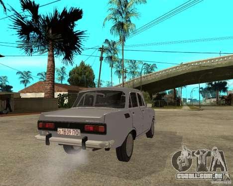 AZLK Moskvich 2140- para GTA San Andreas traseira esquerda vista