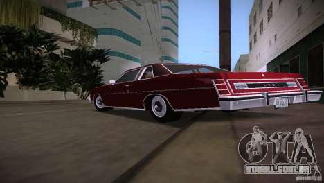 Ford LTD Brougham Coupe para GTA Vice City vista direita