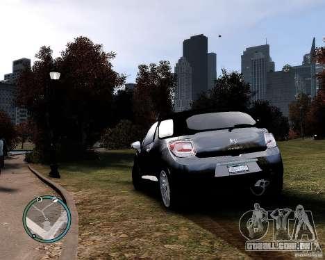 Citroen DS3 2011 para GTA 4 esquerda vista