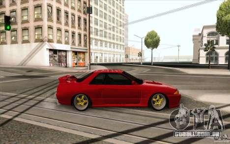 Nissan Skyline GTR-32 StanceWork para GTA San Andreas traseira esquerda vista