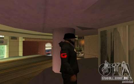 Jaqueta-ponto (G) para GTA San Andreas por diante tela