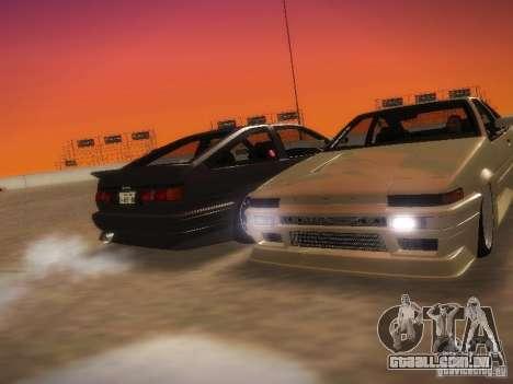 Toyota Sprinter Trueno AE86 para GTA San Andreas vista direita