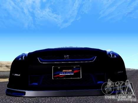 Nissan Skyline R35 Drift Tune para GTA San Andreas vista traseira