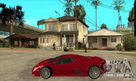 SSC Ultimate Aero Stock version para GTA San Andreas esquerda vista