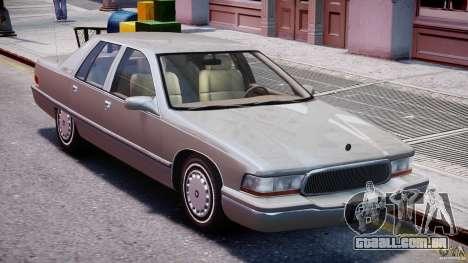 Buick Roadmaster Sedan 1996 v 2.0 para GTA 4 vista inferior