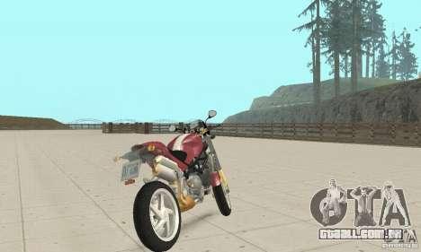 Ducati Monster S4R para GTA San Andreas esquerda vista