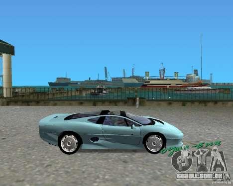 Jaguar XJ220 para GTA Vice City vista traseira esquerda