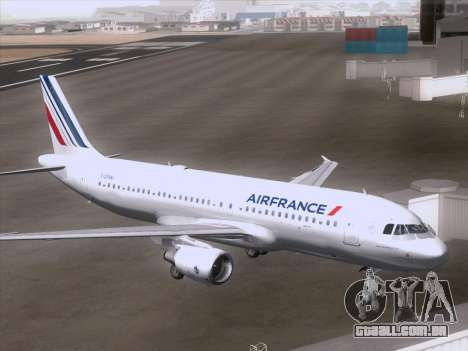 Airbus A320-211 Air France para GTA San Andreas vista direita