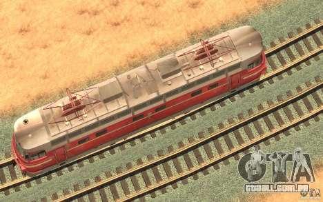 Lokomotiv ChS4-146 para GTA San Andreas traseira esquerda vista