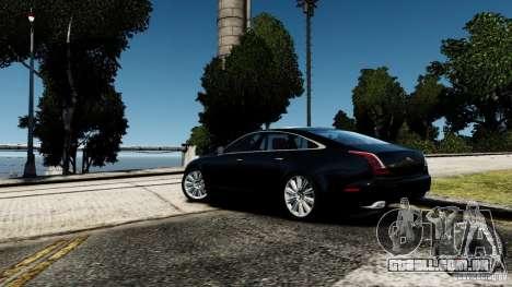 Jaguar XJ 2012 para GTA 4 traseira esquerda vista